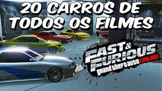 GTA 5 Online - 20 CARROS DO FAST & FURIOUS + 2 BONUS | PS4 ROCKSTAR EDITOR