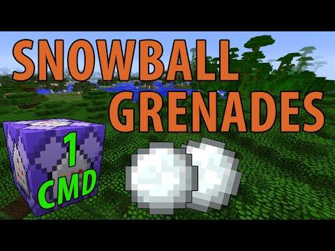 Minecraft Snowball Grenades (1 Command)