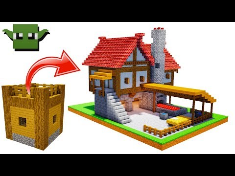 Minecraft Medieval Blacksmith Tutorial (EASY 5X5 BUILDING SYSTEM)