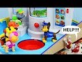 MARSHALLS IN TROUBLE Paw Patrol My Size Lookout Tower Rescue Mission Puzzle Toy Learning Video