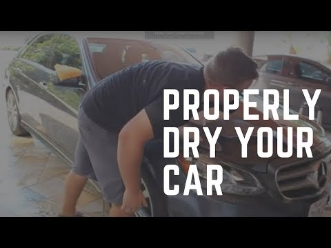 Detailing Tips: How To Properly Dry Your Car Without Scratching It.