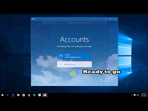 Windows 10 Features :  Setting Up Mail in Windows 10