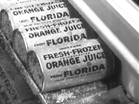 1960's commercials  Florida Citrus  Fresh Frozen Orange Juice Concentrate,