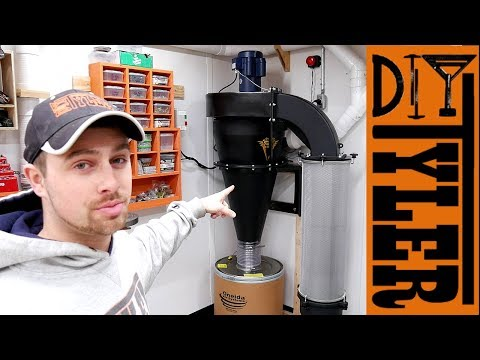 Shop Dust Collector UPGRADE! | Oneida V-System 3000 Dust Collector