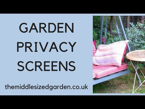 Garden privacy screens - new ideas and clever ways to make your garden private!