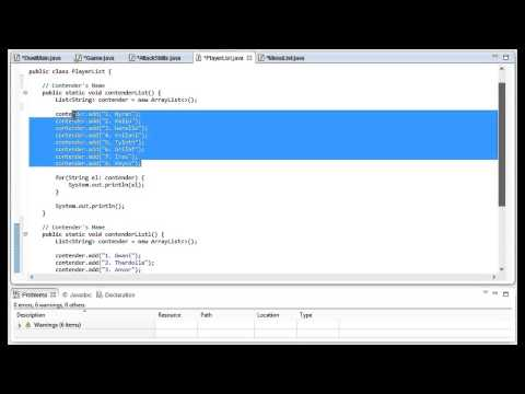 Basic Java Game Tutorial: Champion's Tournament (Part 1 of 3)
