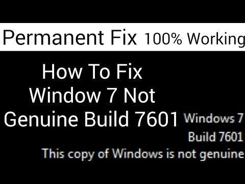 How To Fix Window 7 Not Genuine Build 7601