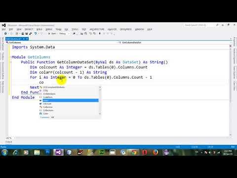String array of column names of dataset in VB NET 2012