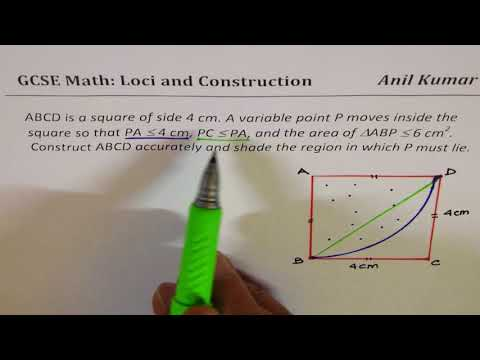 Loci Region defined by Multiple Conditions GSCE Math Loci Construction