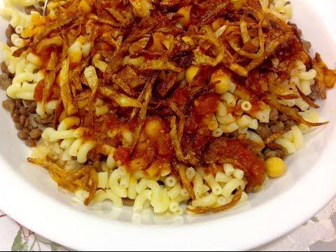 Egyptian Lentil-Rice & Pasta (Koshari)