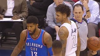 Paul George TAUNTS KELLY OUBRE JR USING STREETBALL MOVES THEN CROSSES HIM OVER AFTER HE GETS MAD!!!