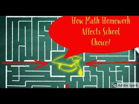 How Math Homework Affects School Choice
