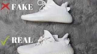 444afc628 YEEZY BOOST 350 V2 CREAM WHITE TRIPLE WHITE - Real Vs. Fake