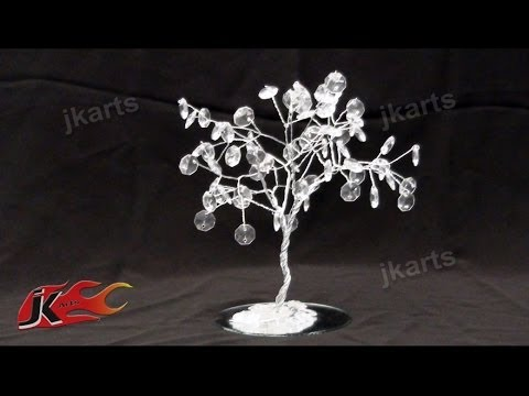 DIY Crystal Beads Wire Tree | How to make | JK Arts 149