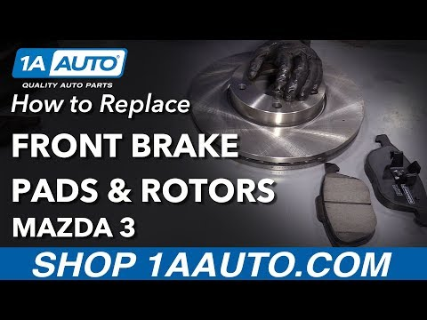 How to Replace Front Brakes 03-09 Mazda 3