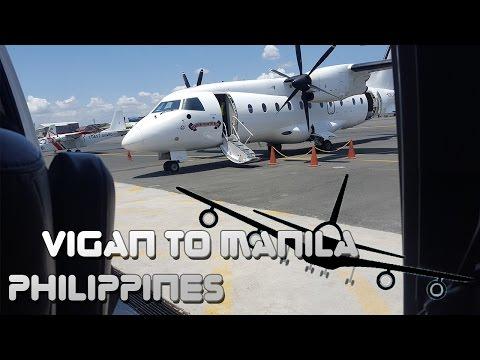 A short flight from Vigan to Manila Philippines
