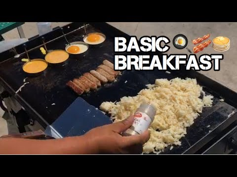 ♨️ How To Make The Most Basic Breakfast Meal On A Blackstone Griddle: Eggs, Sausage, And Hash Browns