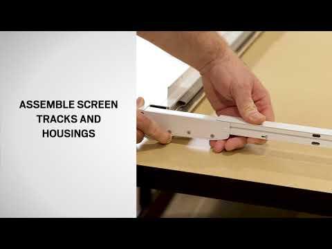 Screen Track and Housing Assemble for Andersen LuminAire™ Retractable Screen Door