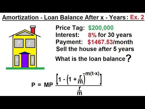 Business Math - Finance Math (24 of 30) Amortization - Loan Balance After x- Years: Ex. 2