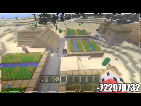 Minecraft PS3   XBOX360 Naturally Spawning Iron Golem and Baby Villagers