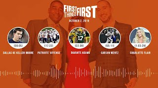 First Things First Audio Podcast (10.2.19)Cris Carter, Nick Wright, Jenna Wolfe | FIRST THINGS FIRST