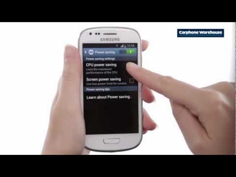 Samsung Galaxy S3 Mini - How do I turn on power saving mode