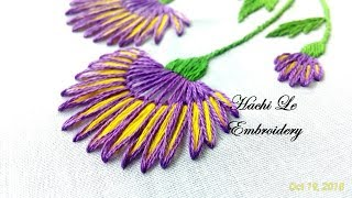 Hand Embroidery Tutorial For Beginners Lazy Daisy Stitch With 2