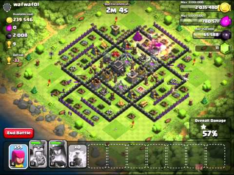 Clash of Clans Easy Farming Strategy with Archers