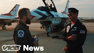 We Rode Shotgun In An F-16 With The Air Force's Elite Stunt Pilots