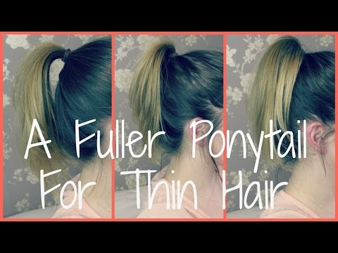 A Perkier Ponytail for Thin/Flat Hair || PollyPocketBeauty