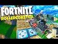 CRAZY Fortnite Roller Coaster Race! NEW Fortnite Playground Mode! - Fortnite Rocket Launch