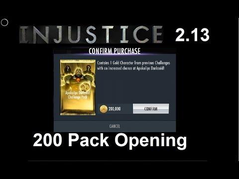 Injustice GAU: Opening 200 Apokolips Darkseid Challenge Packs