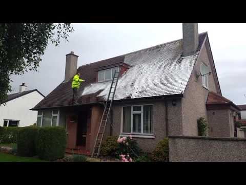 Roof moss removal , soft wash UK Roof cleaning
