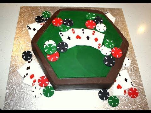 Poker Table Cake Decorating Tutorial