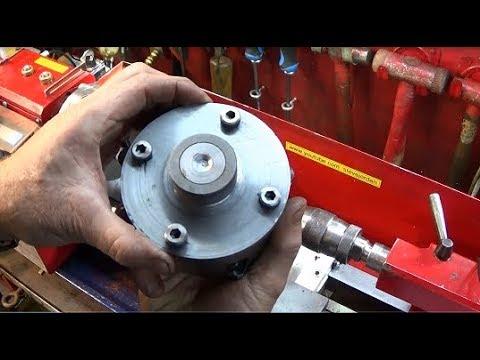 Mini Lathe 4 Jaw Chuck Quick Set-Up Plus Making A Simple Split Clamp