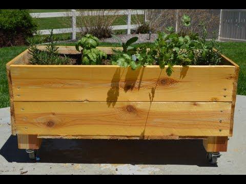 Rolling Planter Box
