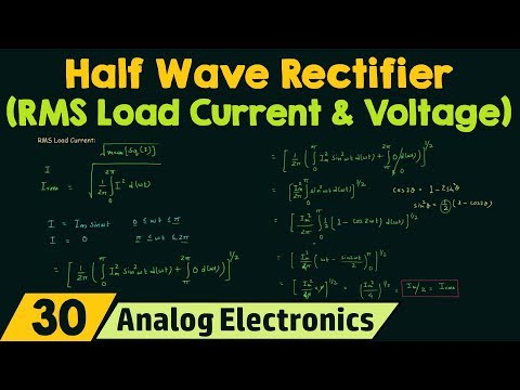 Half Wave Rectifier (RMS Load Current & RMS Load Voltage)