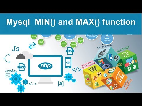 php tutorial in php - mysql MIN() and MAX () function