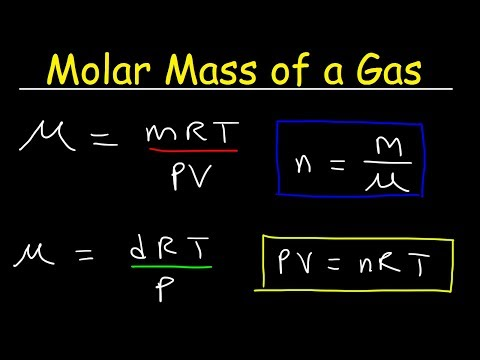 Molar Mass of a Gas at STP - Equations & Formulas, Chemistry Practice Problems
