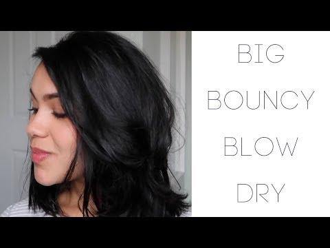 How to: Easy Big Bouncy Blow Dry Volume Hair Tutorial