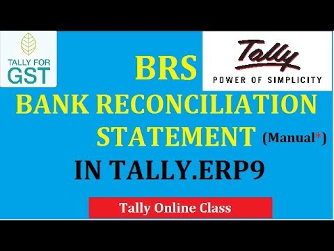 BRS (BANK RECONCILIATION STATEMENT)Manual in Tally.ERP9(Part-1)