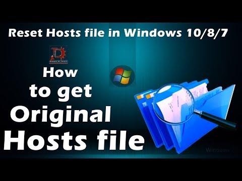 How to get Original Hosts file/ Reset Hosts/Hosts file back to default in Windows 10/8.1/8/7 [DDT]