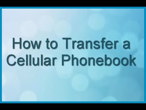 Panasonic Cordless Telephone - How to Transfer a Cellular Phonebook