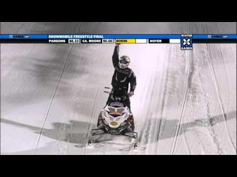 Winter X Games 15 - Daniel Bodin's Huge Seat Grab Backflip, Wins Gold In Snowmobile Freestyle