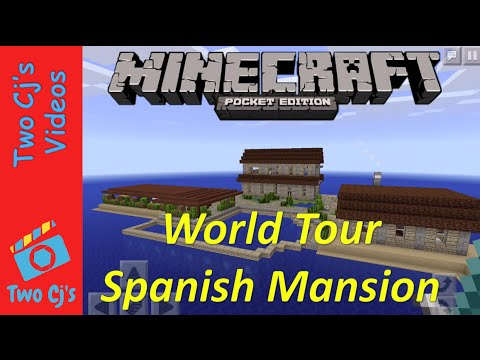Awesome Minecraft PE World Tour - Spanish Mansion [30]