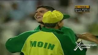 Thrilling Match Pakistan vs Sri Lanka at Sharjah 1999
