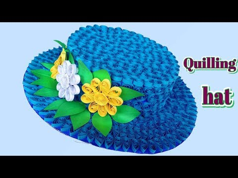 DIY | How to make a 3D Quilling Hat | Paper Quilling Art