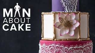 Piped HENNA Cake | Man About Cake COLLAB with SweetAmbs + Joshua John Russell