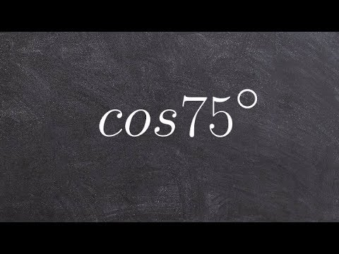 Pre-Calculus - How to find the exact value by using the sum of two angles formula with cosine
