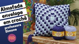 Almofada Envelope em Crochê - por Professora Simone Eleotério